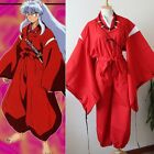 INUYASHA Bright Red Kimono Costume Cosplay Uniform Any Size