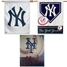 NY New York Yankees Mets Baseball Vertical Hanging Team Banners Flags Souvenirs