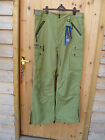 TRESPASS NUCLEAR PEA GREEN WATERPROOF BREATHABLE SKI BOARD PANTS XL TRESTEX