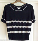 NEW~MONSOON~LIMOUX JUMPER VARIOUS SIZES BLACK NATURAL STRIPE KNITTED WOOL BLEND