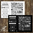 Tnco vintage inspired, wedding invitations black and white wedding invite sample
