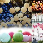 """10pc Wedding Party Paper Lanterns Round Lamp decorations 6"""" 8"""" 10"""" 12"""" with bulb"""