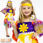 Daisy Hippie Girls Fancy Dress 1960s -1970s Kids Childrens 60s 70s Hippy Costume