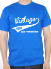 VINTAGE 1981 AGED TO PERFECTION - Birth Year /Birthday Gift Themed Men's T-Shirt