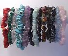 Genuine Chip GEMSTONE BRACELET Amethyst Turquoise Aquamarine Goldstone MORE