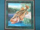 Fish Pillow Panel Top Fabric UPICK tropical bass coral reef puffer cotton new n