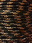 Woodland Camo 550 Paracord Mil Spec Type III 7 strand parachute cord 10-100ft