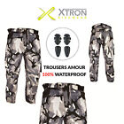Camouflage Waterproof Motorcycle Motorbike Trousers Motocross Textile Armour UK
