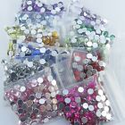 20 Colors 4mm Flat Back Acrylic Rhinestones Gems, Cards, Wedding Invitations