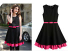 UK NEW 50's 60's Vintage Retro Prom Party Cocktail Evening Swing Dress size 8 10