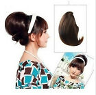 Womens Girls Pony tail Bride Bun Hair Extensions Scrunchie Bun Cover Hairpiece