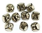 Silver Coloured Metal Christmas Jingle Bells - For Decoration and Charms