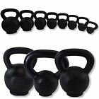 CAST IRON KETTLEBELL KETTLE BELL GYM TONE FIT FITNESS MUSCLE KETTLEBELLS