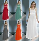New Beading Chiffon Bridesmaid Party Prom Gown Dresses Formal Cocktail Size 6-26