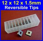 12 x 12 x 1.5mm Carbide Reversible Knife Turn Blade Tip Knives