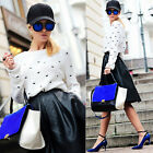 HOT! EMBROIDERED Butterfly CROPPED Knitted Top Pullover Sweater Loose Fit Jumper