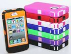Multi Color Impact Defender Hybrid Rugged Hard Cover Case For Apple iPhone 4 4S