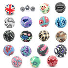 "50 PCs Polymer Clay Spacer Beads Flower Pattern Round Ball 12mm( 4/8"") Dia.M1163"