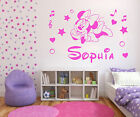 Personalised Minnie Mouse Name Decal, Sticker, Wall Art, Disney, Girl, Free P&P
