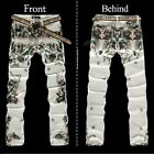 New Men Italy Style Fashion Runway Color-Painted Print Jean Size 28-40 (#8013)