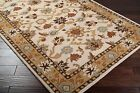 Plush Wool Classic Traditional Area Floor Rug Ivory Brown Taupe 4x6,5x8,8x10