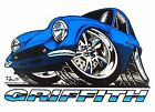 FORD POWERED TVR GRIFFITH 200 COBRA KILLER SPORTS CAR T-SHIRT  TB146