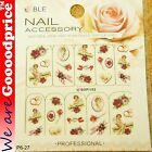 Color Printing Water Tranfer Nail Art Stickers Gift Valentine Rose Style 6-27
