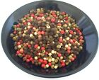 WHOLE PEPPERCORNS RAINBOW MIXED 4 COLOR  2, 4, 8, 16, 32 OZ  RESEALABLE BAG