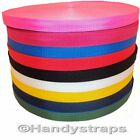 "50 meter x 25mm Colour Polypropylene 1"" Webbing"
