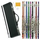 New Different Colors 16 Hole C Flute for Student Beginner School Band w/ Case on Rummage