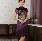 chinese Phoenix wedding dress qipao Cheongsam women Embroidered 120457 in stock