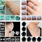 SPECIAL 925SILVER Womens Bangle Bracelet necklace ring earring Christmas GIFT