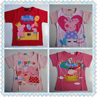 BNWT Gorgeous Peppa Pig Summer Short Sleeve Tee T-shirt Size 2,3,4,5,6