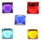 Acrylic Cabochons Faceted Flatback Square 6x 6mm M1307