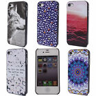 Red Cloud Scenery Flower Cell Printed Hard Back Skin Case Cover for i Phone 4 4S