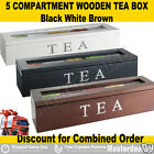 5 Compartment Wooden Tea Box with Glass Tea storage glass top white idea 4 X'mas