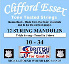 12 STRING MANDOLIN STRINGS - CLIFFORD ESSEX TOP QUALITY TONE TESTED STRINGS.