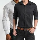 ZC6184 New Men's Fashion Casual Slim Fit Stylish Polka Dot Dress Shirts