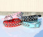 New Spiked Studded Cool Rivets Soft PU Leather Pet Puppy Dog Collars