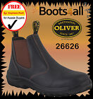 New Oliver Work Boots Easy Escape Style Non Steel Toe BrownLeather Slip On 26626