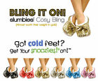 Bling It On Sequin Slumbies Slippers. Multiple Colours. Comfy & Stylish Snoozies
