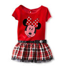 New Cute Baby Girls Minnie Clothes Summer Short-sleeved Red Dress For 1-6Years