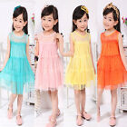 Toddlers Baby Girls Kids Princess Party Tutu Multilayer Lace Gown Formal Dress