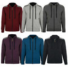 New Conspiracy Men's Full Zip Hooded Top Fleece Black Grey Sweatshirt Hoodie