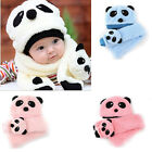 Toddler Infant Unisex Girl Boy Baby Hat Cap Beanie+Scarf Panda Cartoon 1-5Y WLN1