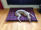 BLUE CHECK FLEECE Deluxe Waterproof Dog Bed,Dog Beds,Pet Beds,Dogbed,Dogbeds