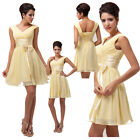 NEW Women Grace Sexy Deep V Chiffon Ball Cocktail Evening Prom Party Short Dress