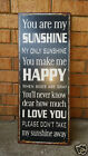 Wall Art IRON BOARD Gift Idea Interior Home décor Vintage Retro 31X76CM Sunshine