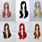 Fashion 70CM Long Wavy Style Lady Girl Anime Cosplay Hair Full Wig With Wig Cap