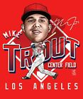 Mike Trout Los Angeles Angels Caricature T-shirt  - Adult Sizes Brand New